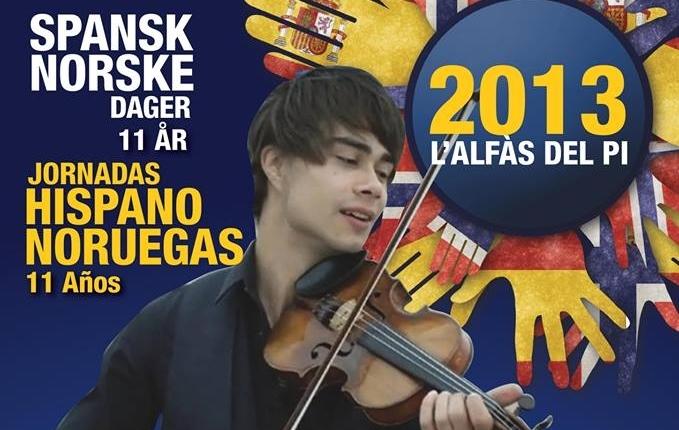 Alexander performs in Alfaz del Pi, Spain