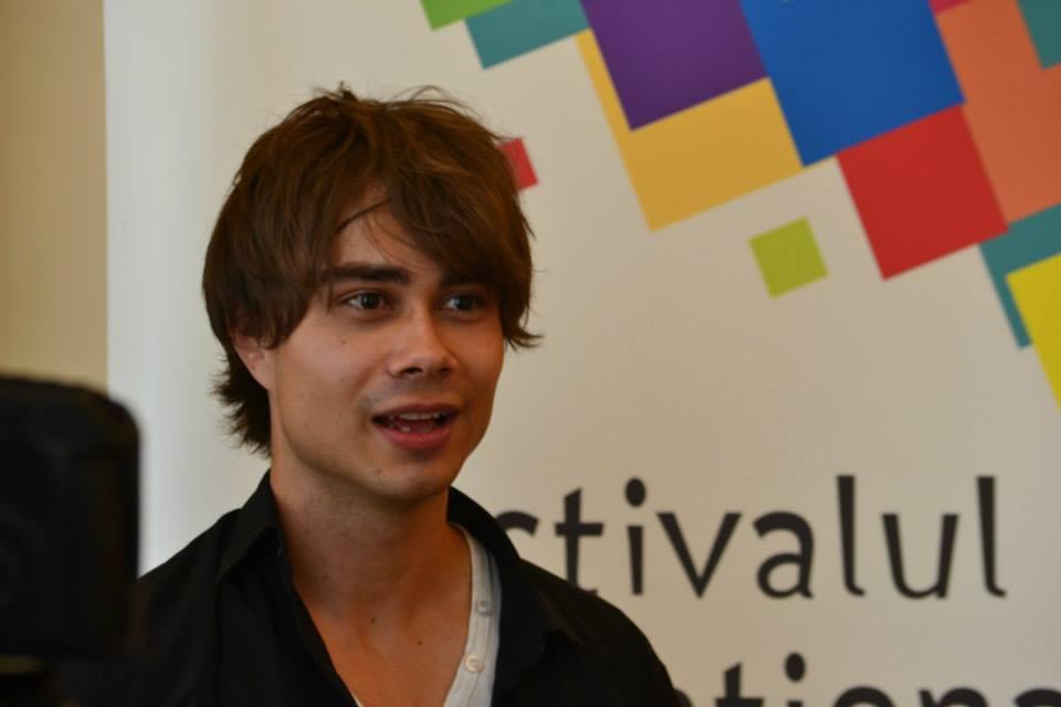 Alexander Rybak: Press-conference in Iasi, Romania