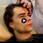 Video: Александра Рыбака гримируют под Диму Билана («Один в один»)