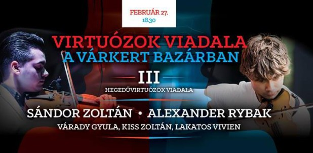 "Budapest, Hungary: Alexander Rybak will perform on February 27th in ""Virtuózok Viadala"""
