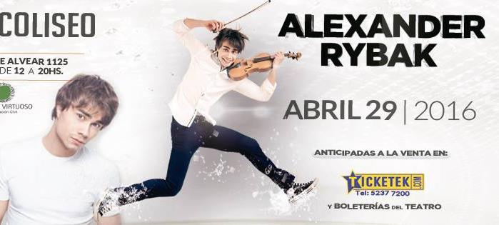 April 29th: Alexander Rybak plays concert in Argentina