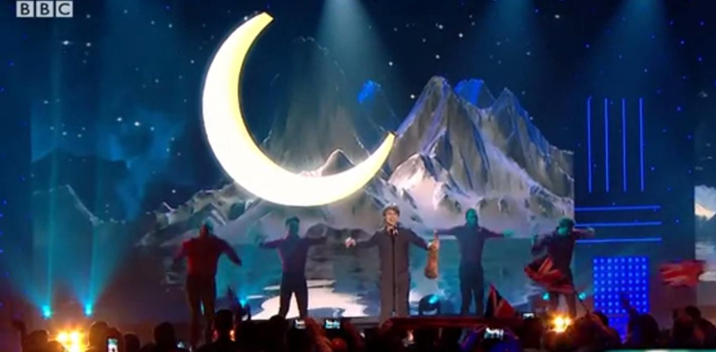 "Video. Alexander Rybak performed ""Fairytale"" on BBC in London, UK"