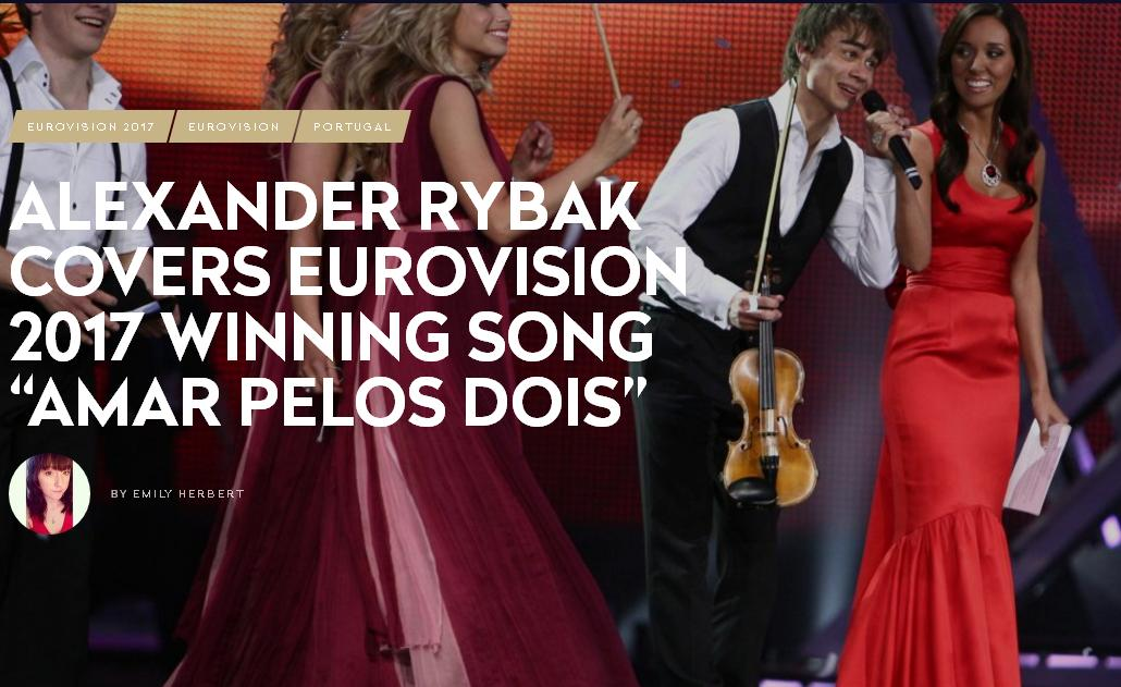 "Alexander Rybak covers Eurovision 2017 Winning Song ""Amar Pelos Dois"""