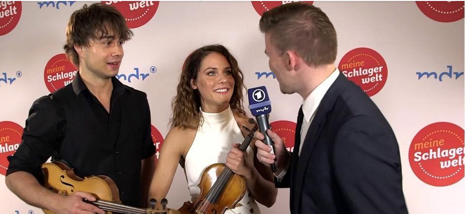 "Alexander Rybak & Franziska Wiese in the German TV-show ""Schlagerboom"" 2017"