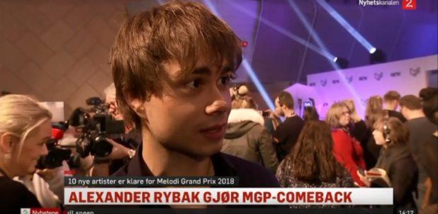 TV2.no. Alexander Rybak (31) makes Comeback in MGP