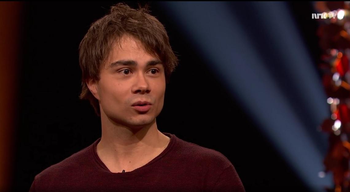 "Nrk.no: Alexander was a guest in the Norwegian Talkshow ""Lindmo"""