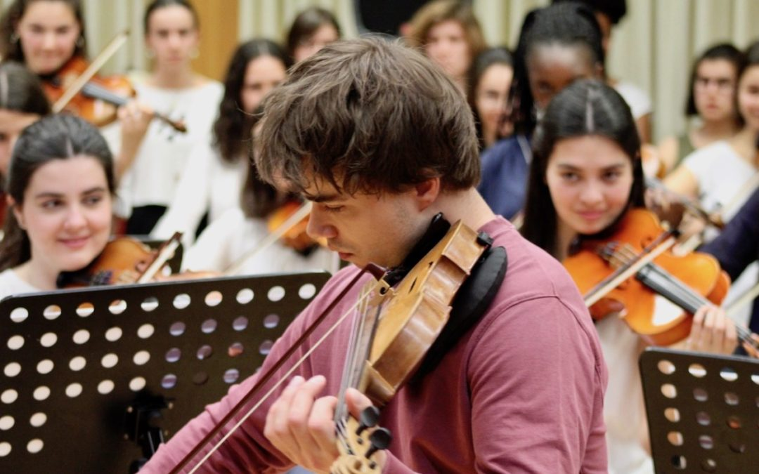 Alexander Rybak gave masterclass at Metropolitana School of Music in Lisbon on May 7th 2018