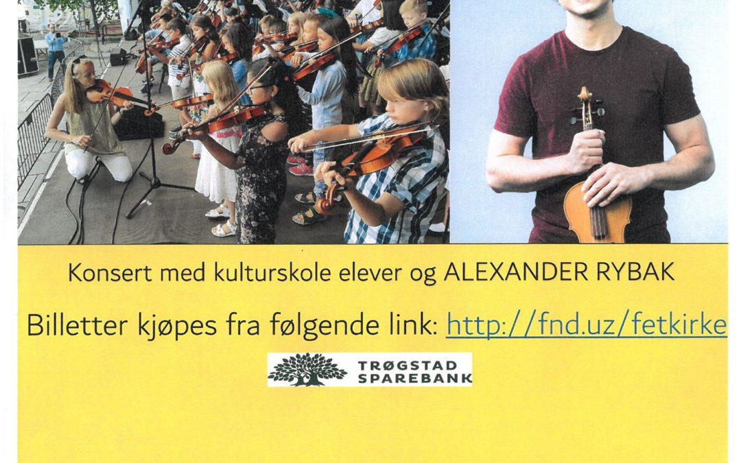 Fetsund, Norway: Concert with Alexander Rybak & Culture Schools