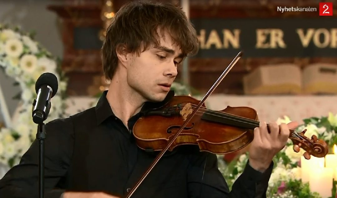 TV2.no: Alexander Rybak performed at the funeral of Jahn Teigen